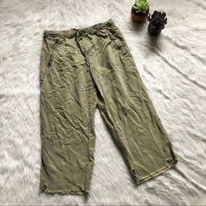 Zara Crop Green Pant